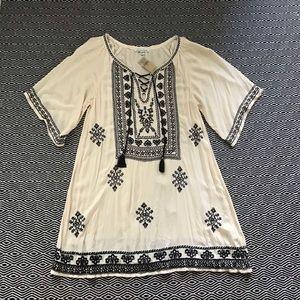 American Eagle Embroidered Boho Dress Medium